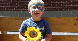 Kids activities at the Producers Fair included face painting and hay rides
